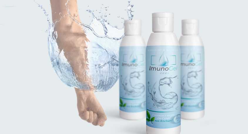 Imunogel, gel disinfettante mani contro virus, infezioni e batteri
